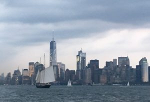 Lower Manhattan before sunset
