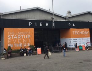 Pier 94's entrance for Tech Day 2018