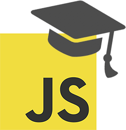 Javascript with university hat