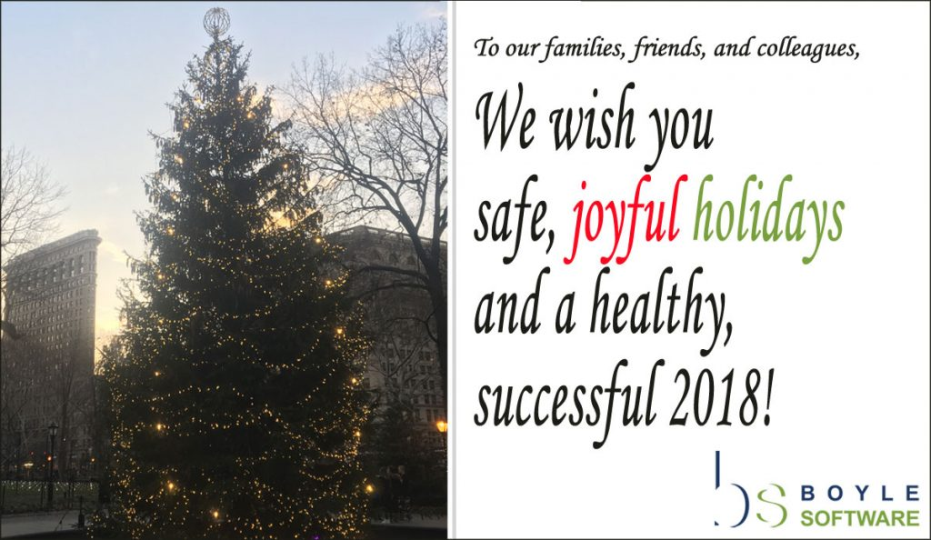 Boyle Software holiday card 2017