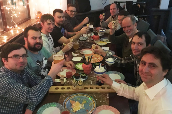 Boyle Software's Kiev team at Tequila House