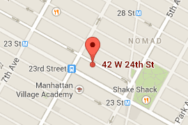 Map of 42 West 24th Street area